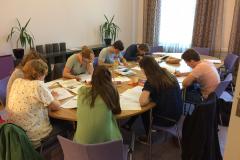 Leerlingen samenwerken